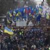 Kievdə mitinq davam edir